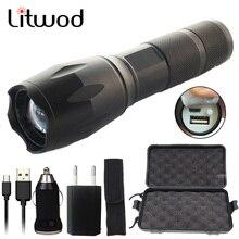 Z35 USB Перезаряжаемый светодиодный вспышка светильник 10000 люмен CREE XM-L2 U3 XM-L T6 фонарь с приближением, флэш-светильник Светильник ing с USB кабелем
