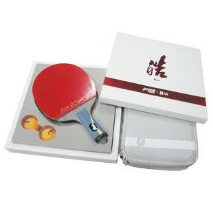 Cheap DHS Hurricane Hao Set Table Tennis Racket Skyline 3 + Hurricane 3 Rubber + Bag Case Ping Pong Bat