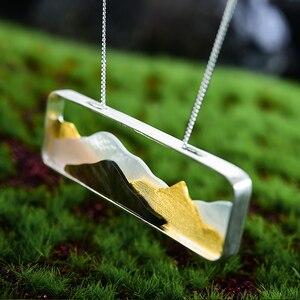 Image 2 - Colgante Lotus Fun concha de mar Natural hecho a mano, joyería fina, diseño de montaña con múltiples puntas, sin collar