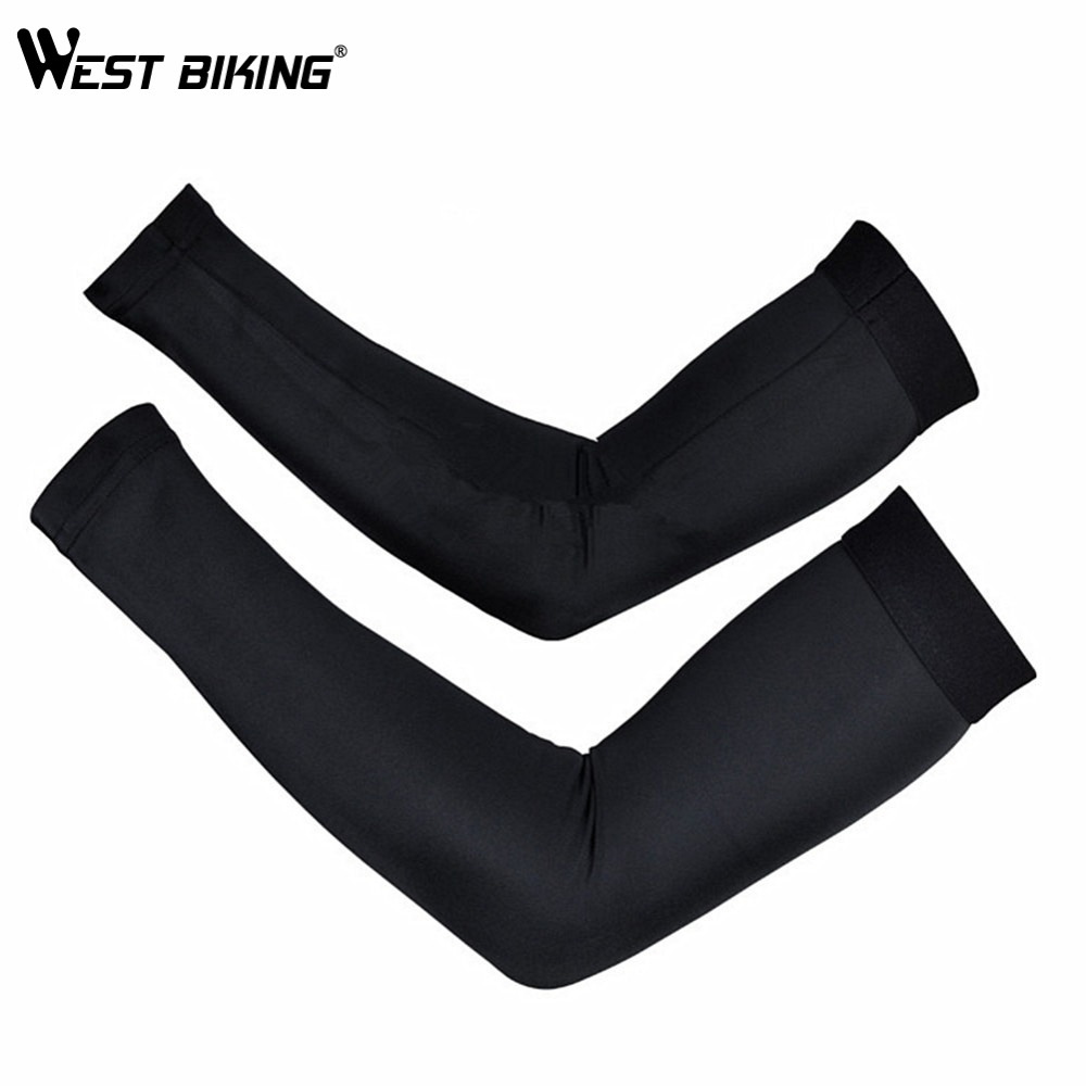 WEST BIKING Cycling Arm Sleeves Armwarmer Manguitos Ciclismo Brazo UV Protection Sleeves Arm MTB Bike Bicycle Cycling Arm Warmer topcycling four seasons outdoor cycling polyester spandex arm sleeves blue l pair