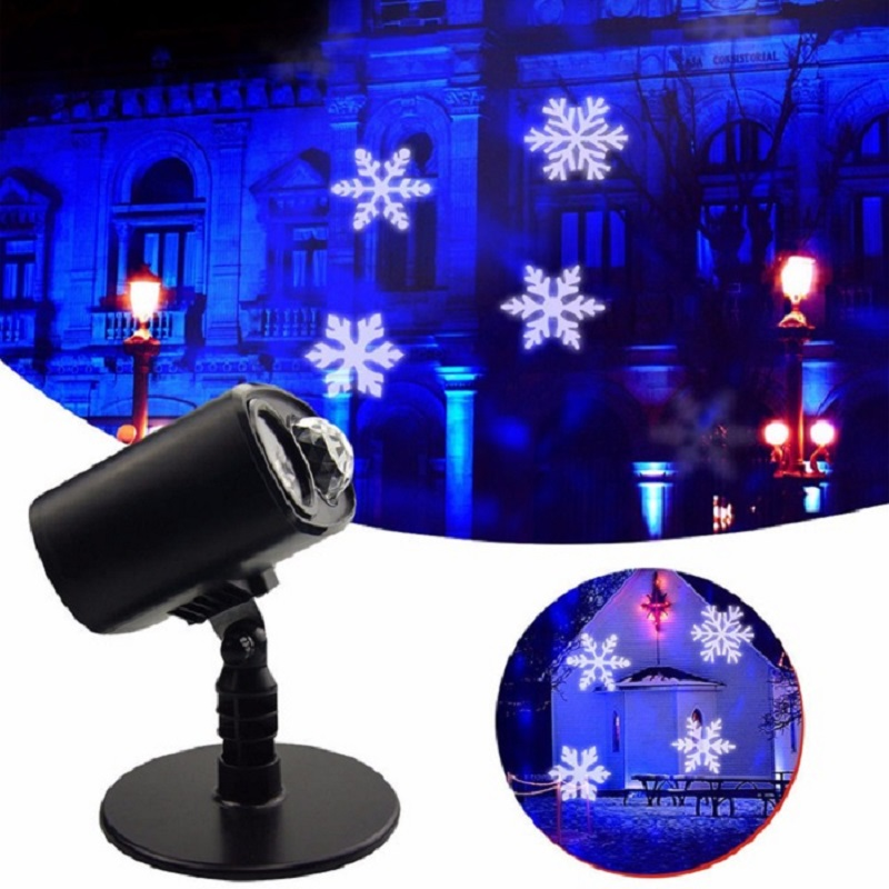 Laser Snowflake Projector Waterproof Moving Snowflake Laser Spot Light Christmas New Year LED Stage Party Light Holiday Light