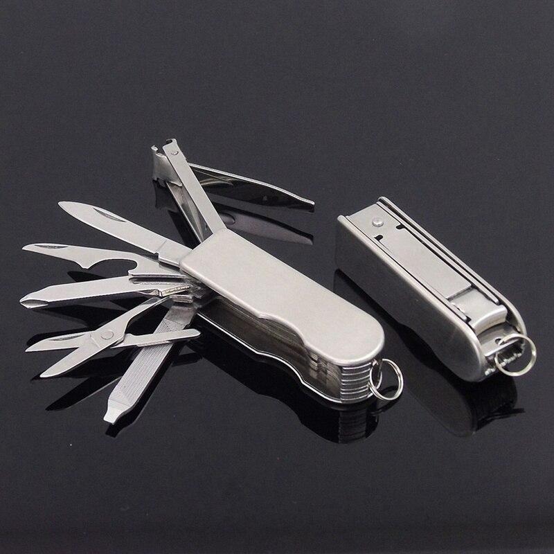 1 шт., многофункциональная Складная машинка для стрижки ногтей из нержавеющей стали, ножницы для ногтей, нож Lima с ключом Ножницы и триммеры      АлиЭкспресс