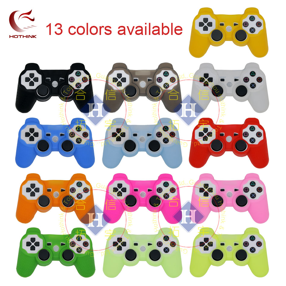 HOTHINK Protective Silicone Case Skin Cover Soft Case For Playstation 3 PS3 Controller Dualshock 3 Gamepad