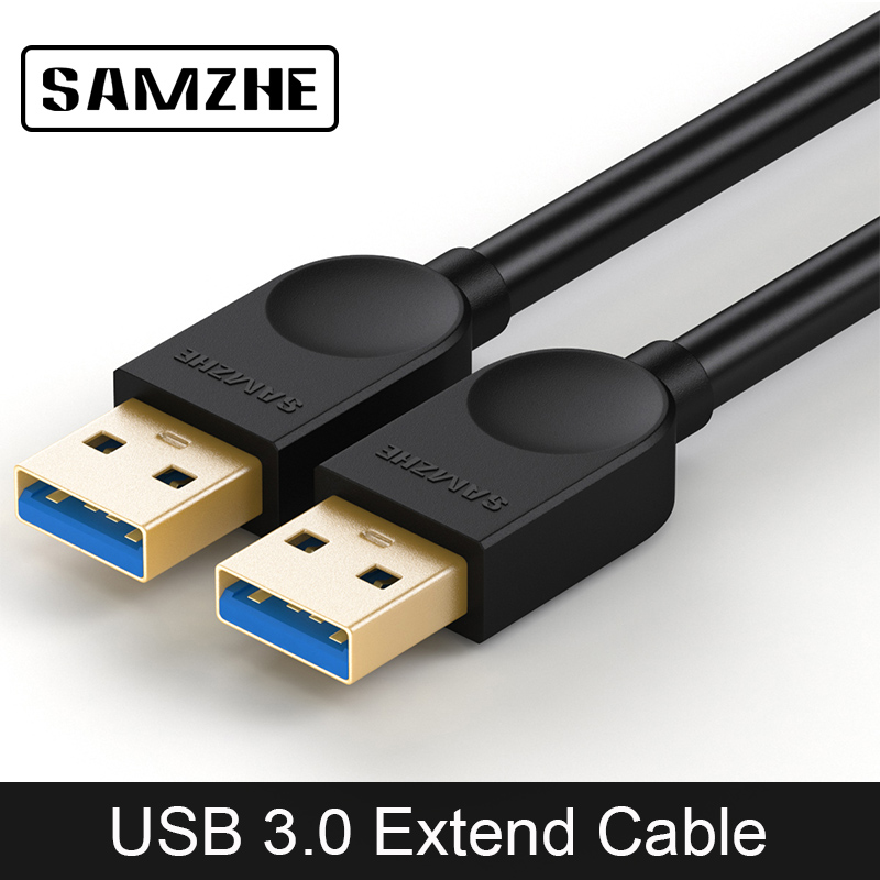 SAMZHE USB3.0 Extender A Male to B Male Cable Extension 3.0 USB Cord Wire Black USB Cable Hi Speed USB Extension Wire lidu usb male to micro usb male extension charging cable for samsung black 100 cm