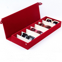 High Quality Glasses Case 8 Slot Grids Eyeglass Sunglasses Glasses Storage Display Grid Stand Case Box Holder Glasses Organizer
