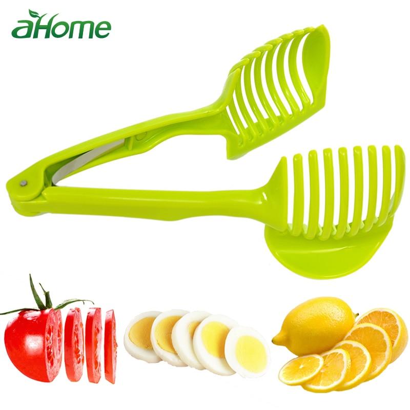 Кухня гаджеты клип фруктовый, овощной слайсер инструмент картошка томаты лук лимонный овощной нож для резки фруктов держатель