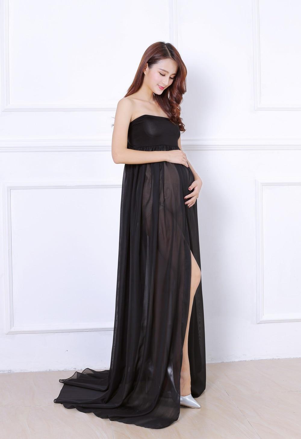 schwarz mutterschaft kleid lange maxy boden kleider für schwangere  fotografie schießt ballkleid chiffon strand kleider schwangerschaft