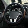Cabeça camada de couro Genuíno Cobertura de Volante de couro cobre para volvo V60 Car Auto Peças acessórios