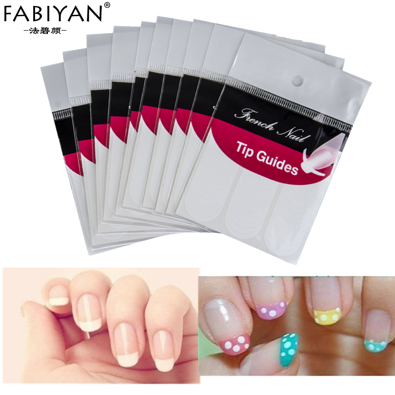 5Pcs Lot Packs DIY French Nails Tips Guides Sticker Style Form Fring ...