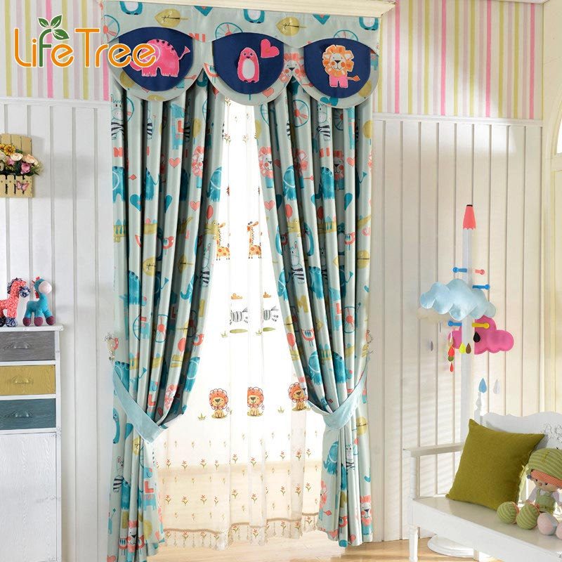 Children Curtains For Kids Room Boys Girls Bedroom Blue Tulle Curtain Baby  Pink Window Drapes Custom Made In Curtains From Home U0026 Garden On  Aliexpress.com ...
