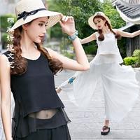 Summer Fashion Tanks Vest Chiffon Blouses Women Ruffles Crop Tops Sleeveless O Neck Casual Women Shirts