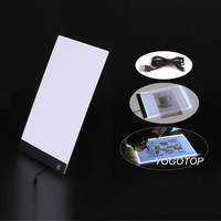 Dimmable Ultra Thin A4 LED Light Tablet Pad Apply To EU UK AU US USB Plug