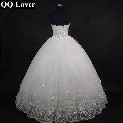 QQ Lover 2019 Elegant Luxury Lace Wedding Dress Vintage Plus Size Ball Gowns Vestido De Noiva 3
