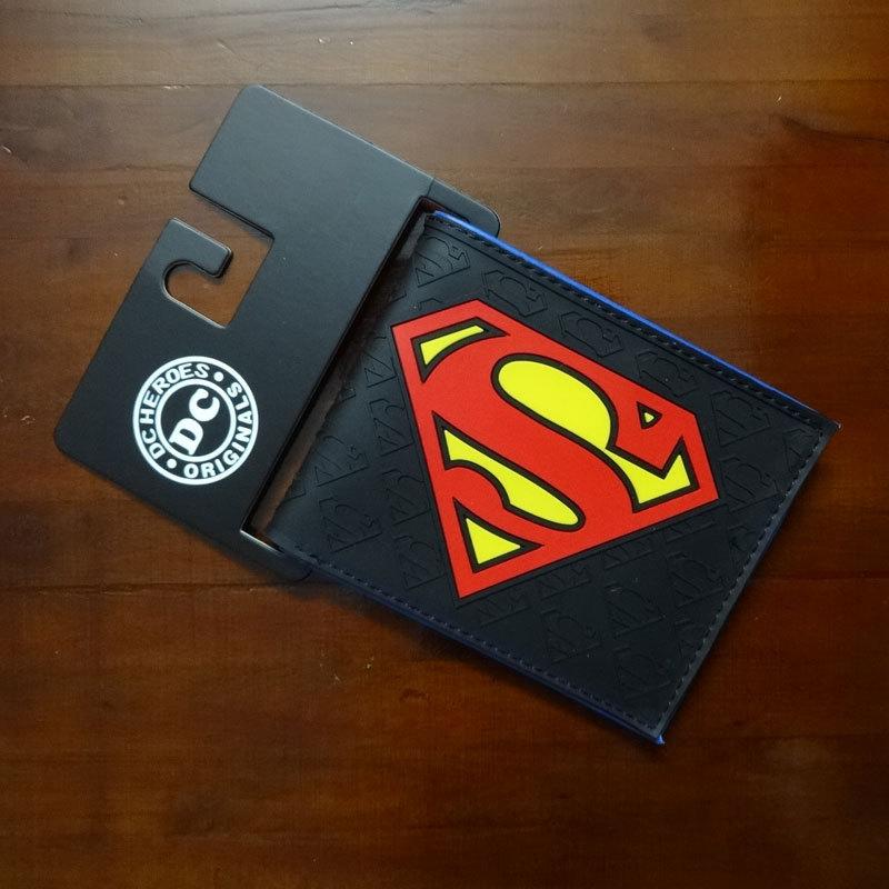 PU Wallet Purses Card Pocket Soft-Money-Bag Zipper Anime Superman Fashion Unisex 1PCS