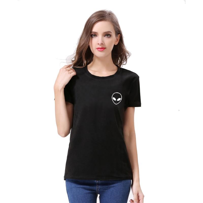 extraterrestrial 2017 fashion T Shirt Women Tops Letter Print Tee Shirt Femme T-shirt Casual tshirt