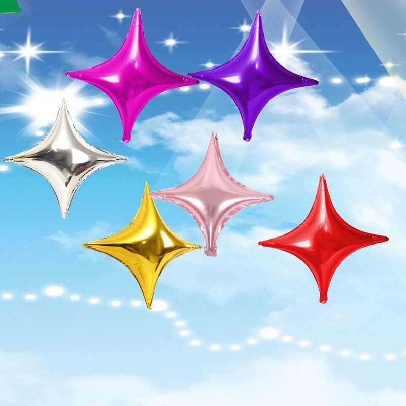 10 дюймов маленькие четырехконечные звезды алюминиевые воздушные шары украшения 50 шт. фольги Воздушные шары вечерние украшения Детские воздушные шары на день рождения