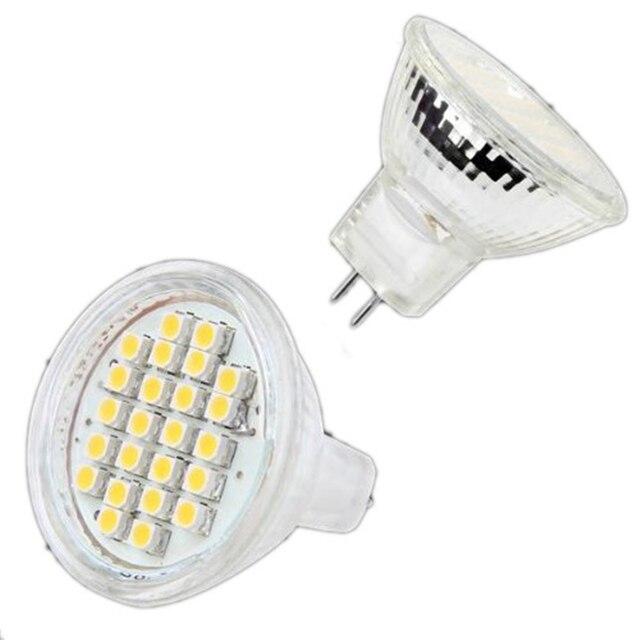Energiesparende 12 V 3 Watt MR11 GU4 Led lampe 24 leds 3528 120LM ...