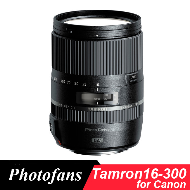 Tamron 16-300mm f/3.5-6.3 Di II VC PZD MACRO 16-300 Lens for Canon 700D 750D 760D 800D 60D 70D 1300D T5i T3i T5 T6 T6s tamron 16 300mm f 3 5 6 3 di ll vc pzd macro nikon объектив