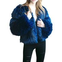S 3XL Faux Fur Coat Women 2017 Winter New Fashion Pink Fur Coat Elegant Thick Warm