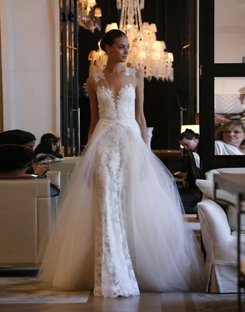 Popular mermaid wedding dress detachable skirt buy cheap for Wedding dress detachable skirt