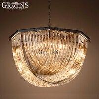 Современные хрустальные люстры Освещение E14 E12 Винтаж люстра свет подвеска подвесной светильник ресторан отеля дома