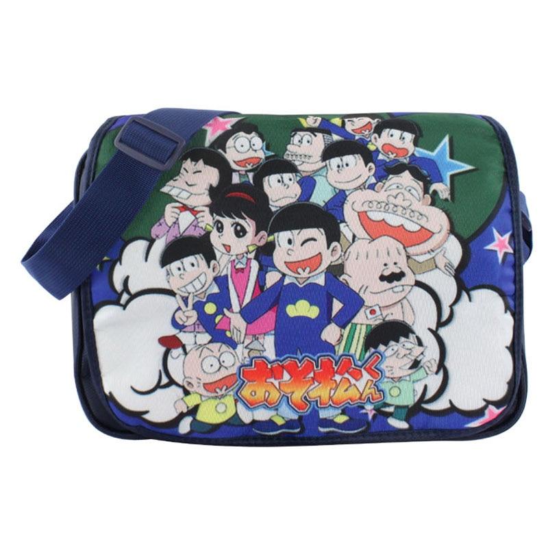 Anime Osomatsu san Polyester Shoulder Bag/Messenger Bag/School Bag limited anime portachiavi llavero osomatsu san family of osomatsu san bag pendnat keychain pendant toys