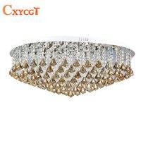 2015 New LED Modern Luxury K9 Crystal Chandeliers Lustres De Cristal Lamp Foyer Hotel Restaurant Dining