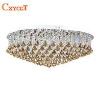 2015 New LED Modern Luxury K9 Crystal Chandeliers Lustres De Cristal Lamp Foyer Hotel Restaurant Dining