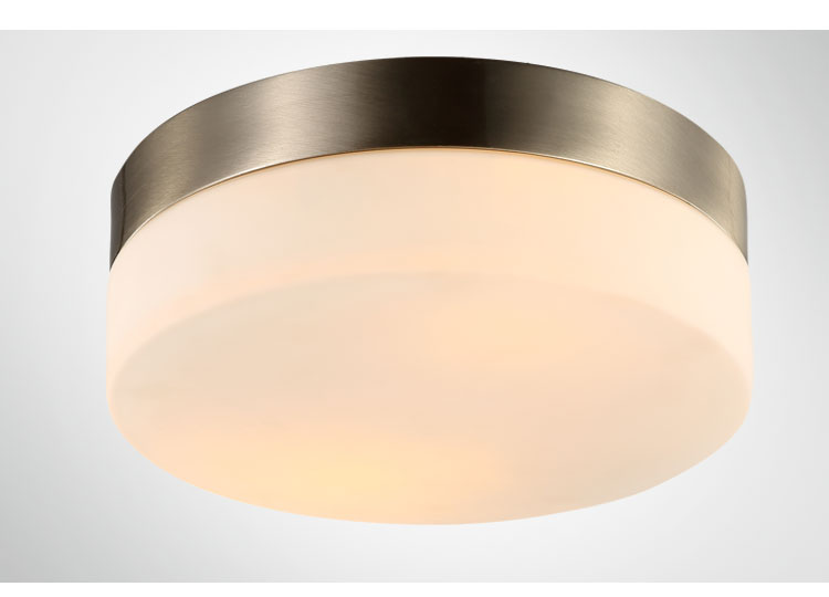 Genteel 29cm Modern Led Iron Glass Ceiling Light Round Glass Lampshade Lamparas De Techo Abajur Ceiling Lights & Fans Ceiling Lights