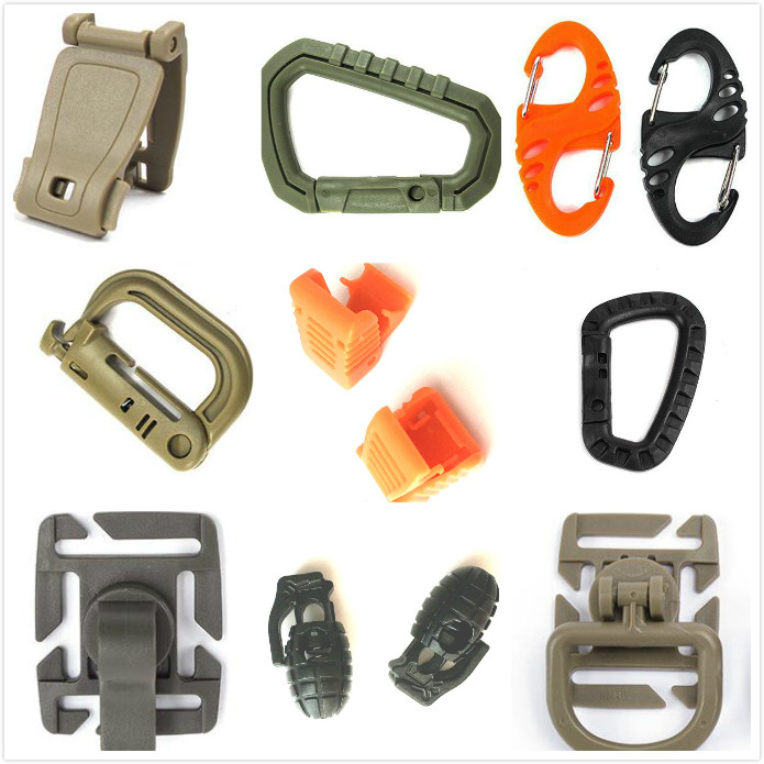 5pcs Camping Hiking O Shape Ring Alloy Buckles Clips Carabiner Round Hooks NP CL