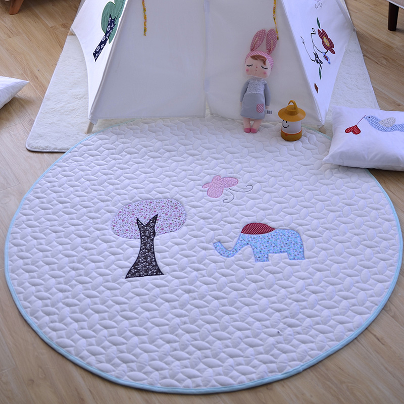 ФОТО Diameter 140cm Sofy Safty Round Shape Kids Baby Bosy Girls Playing Toy Mat Climbing Mat Developing Crawling Carpet As Toys
