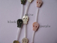 2strands 30pcs 8x12mm ,Top Quality ,MOP shell mother of pearl skull skeleton black pink assortment cabochons beads