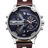 Natate marca de luxo masculino relógio quartzo duplo movimento cagarny à prova dmilitary água esporte militar relógio pulso 0840