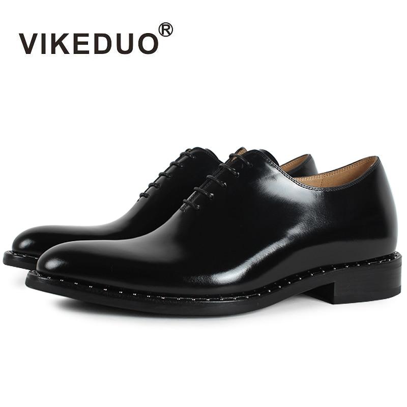 Vikeduo 2018 Plat À La Main Noir Designer Dentelle-up De Luxe D'affaires Travail De Danse Mâle Chaussures En Cuir Véritable Hommes Oxford Robe chaussures