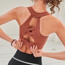 Woman Yoga Sports Bra Push Up Running Sport Top Shockproof B