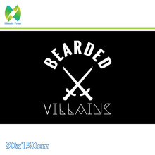 Free shipping 90*150cm 60*90cm Polyester Bearded Flag 3X5FT 90x150cm For Home Office Party Bar Banner free shipping gulf cooperation council flag 90x150cm 60 90cm polyester 3x5ft banner