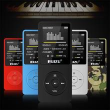 2017 New Original RUIZU X02 HiFi MP3 Music Player 8GB Sport MP3 Player with 1.8″ TFT Screen Support FM Radio,E-Book,Clock,Data