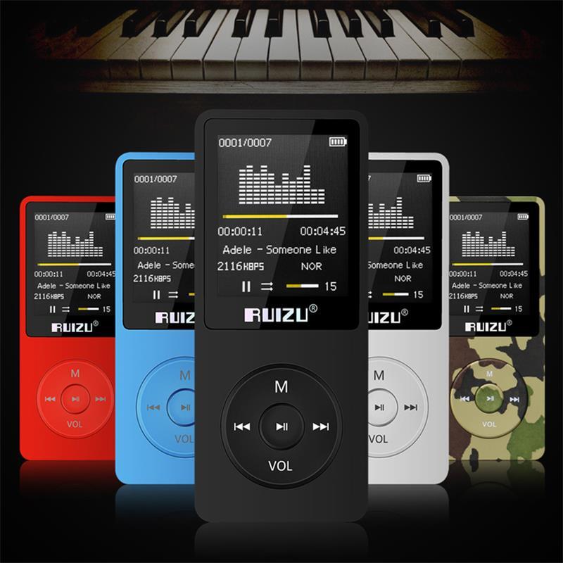 Stetig 2018 Neue Original Ruizu X02 Hifi Mp3 Musik Player 8 Gb Sport Mp3 Player Mit 1,8 tft Bildschirm Unterstützung Fm Radio Daten Kunden Zuerst Uhr E-buch