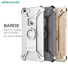 For iphone 6S Plus Capa Handy Phone Stand Cover Nillkin Barde Metal Case with Ring Shape Holder for iPhone 6 6S Plus case 5.5''