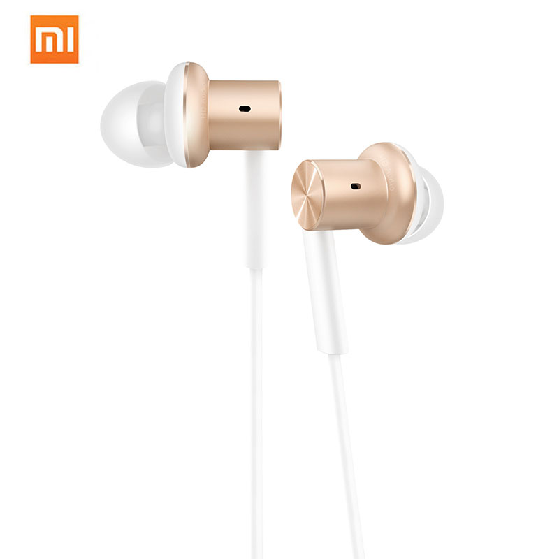 Xiaomi Mi Dual Hybrid Earphone In-Ear Wired Hi-Fi With Mic Multi-Unit Circle Iron Mixed Piston Headset For Huawei Samsung original xiaomi xiomi mi hybrid earphone 1more design in ear multi unit piston headset hifi for smart mobile phone fon de ouvido
