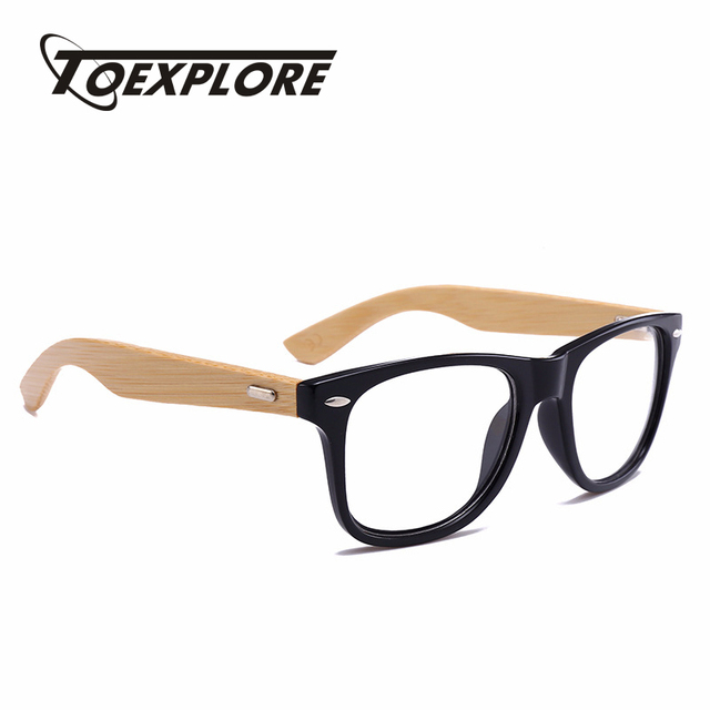 a2d6b0f30 TOEXPLORE Retro Wood Optical Glasses Men Bamboo Eyewear Frame Women Brand  Designer Vintage Goggle Myopia For