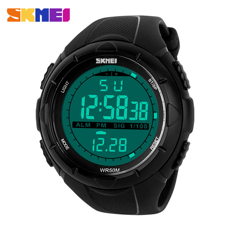 2017 New Skmei Brand Men LED Digital Military Watch, 50M Dive Swim Dress Sports Watches Fashion Outdoor Wristwatches pedometer heart rate monitor calories counter led digital sports watch fitness for men women outdoor military wristwatches