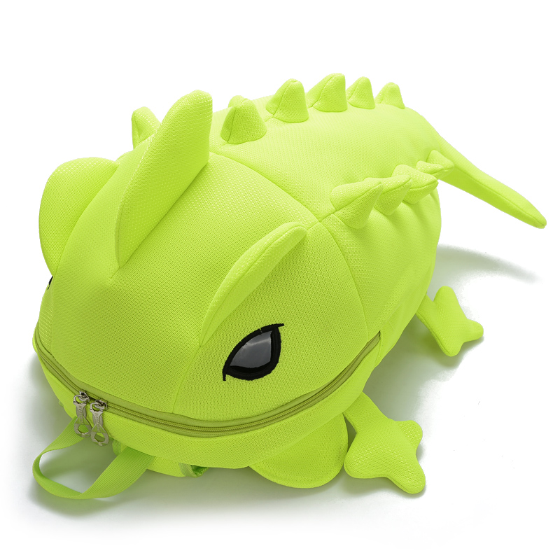 2017 creative chameleon new style kids cartoon school backpack Dinosaur mon..