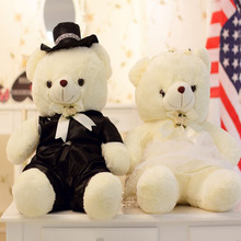 2pcs/pair  Couple Bear Wedding Teddy Plush Toys Gift Christmas Wholesale gift Bride & Groom