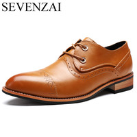 Men Shoes Famous Luxury Brand Leather Formal Office Classic Loafers Pointed Toe Dress Flats Footwear Brogue