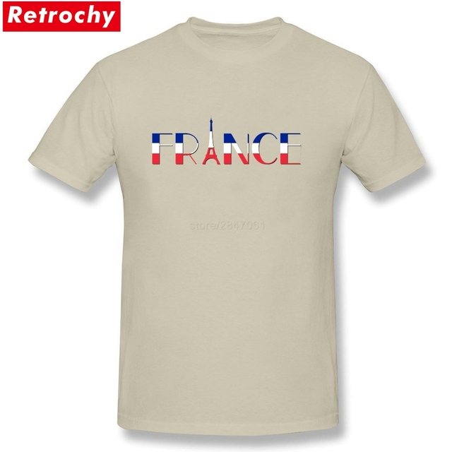 40924a1c4f The Eiffel Tower T Shirt Men 2019 New Fashion French Flag Tees Short Sleeve  Male T-shirts Big Size France Letter Design