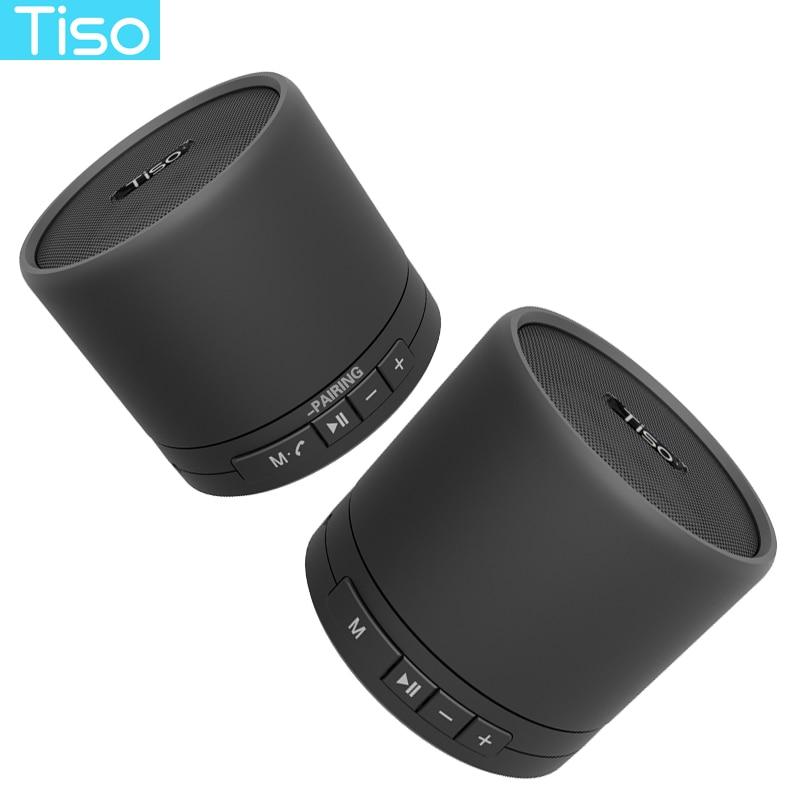 V4.2 מתכת רמקולים סטריאו Bluetooth אלחוטי אמיתי TWS Tiso T5 10 W רמקול נייד מיני כרטיס TF AUX עם מיקרופון