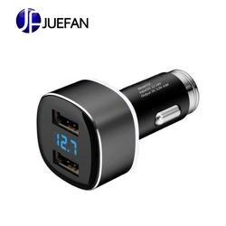Цинковый сплав 4.8A цифровой дисплей красивые Модное Автомобильное зарядное устройство dual usb Автомобильное зарядное устройство