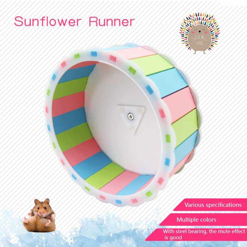 1 Pcs Pet Hamster Running Wheel Toy Roller Round Silent Cage Supplies Exercise Accessories H99F