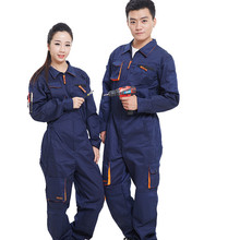 Unisex Engineering Uniform Work Clothes Auto Repair Workshop Patchwork Zipper Factory Working Clothing Siamese Overalls(China)